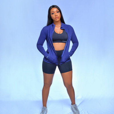 A BABE JACKET (BLUE)